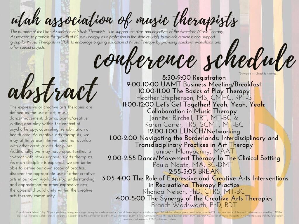 Utah Association Of Music Therapists Spring 2017 Conference Utah